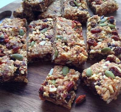 Homemade Granola Bars (Vegan, Gluten-free, Grain-free)